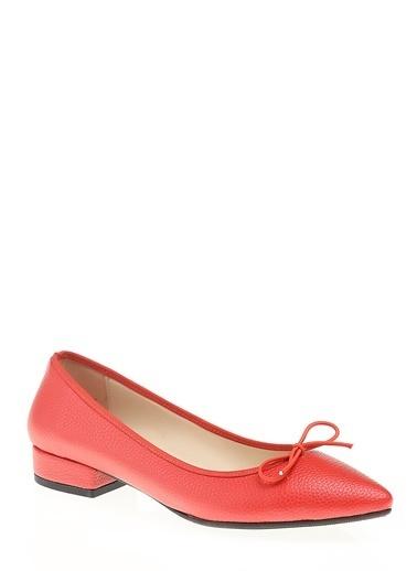 D by Divarese Kısa Topuklu Babet Kırmızı